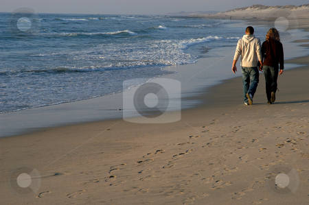 Walk stock photo, Couple on the beach by Rui Vale de Sousa