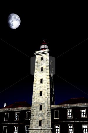 Lighthouse stock photo, Oldest portuguese lighthouse of Sao Pedro de Moel by Rui Vale de Sousa