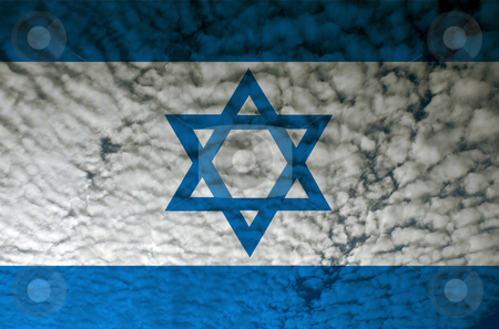 Israel flag stock photo, Israel flag illustration, computer generated by Rui Vale de Sousa