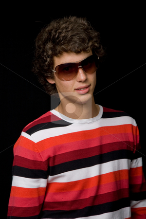 Youth stock photo, Young casual man against a black background by Rui Vale de Sousa