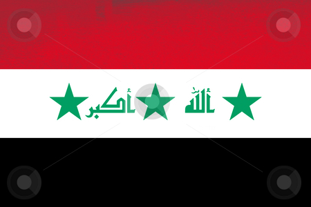 Iraq stock photo, Iraq colored textured flag illustration, computer generated by Rui Vale de Sousa