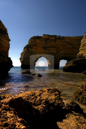 Beach stock photo, Portuguese algrave beach in the south of the country by Rui Vale de Sousa