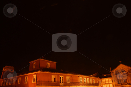 Ancient stock photo, Ancient portuguese architecture in the dark night by Rui Vale de Sousa