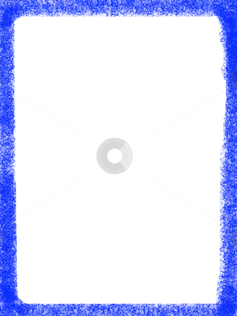 Frame stock photo, Decorative framework, some blue texture over white paper by Rui Vale de Sousa