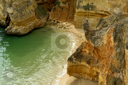 Beach stock photo, Coastal rocks at the south of portugal by Rui Vale de Sousa