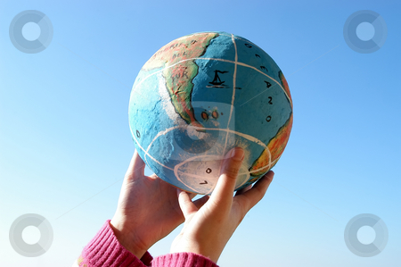 Holding stock photo, Hands holding a globe by Rui Vale de Sousa