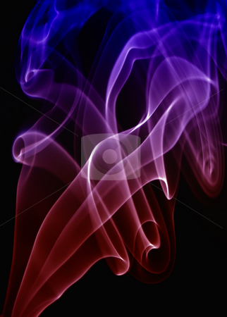 Smoke stock photo, Purple rays smoke abstract in black background by Rui Vale de Sousa