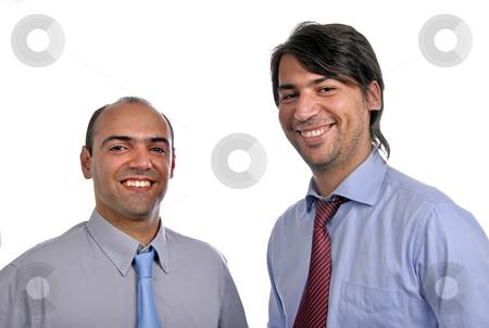 Men stock photo, Two young business men portrait on white by Rui Vale de Sousa