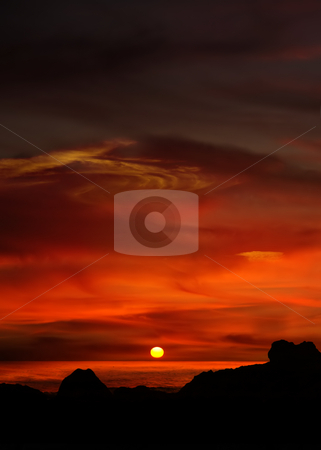 Sunset stock photo, Sunset at the beach at south of portugal by Rui Vale de Sousa