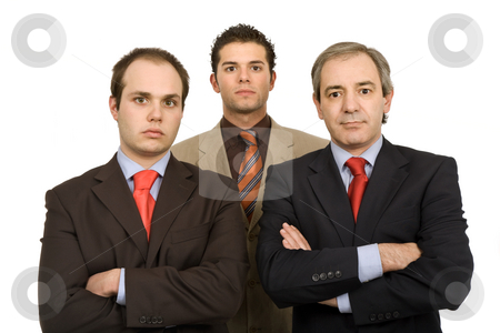 Three stock photo, Three business man isolated on white background by Rui Vale de Sousa