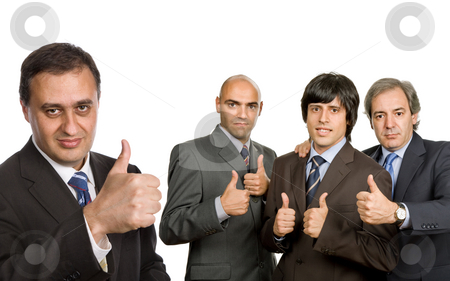 Team stock photo, Group of business men isolated on white by Rui Vale de Sousa