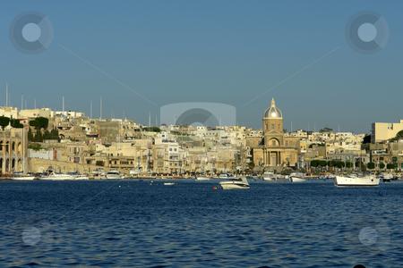 Malta stock photo, Ancient architecture of malta island at the port by Rui Vale de Sousa