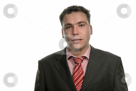 Silly stock photo, Young business men portrait isolated on white by Rui Vale de Sousa