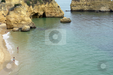 Beach stock photo, Small beach at algarve, the south of portugal by Rui Vale de Sousa