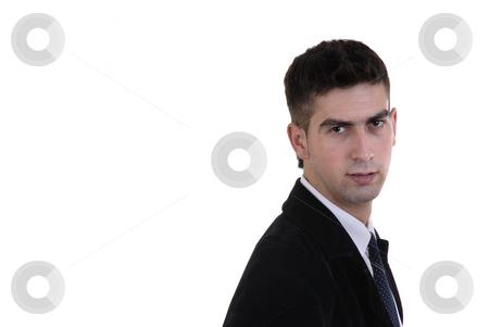 Stand stock photo, Young business portrait in a white background by Rui Vale de Sousa