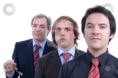 Business stock photo, Three business man isolated on white background by Rui Vale de Sousa