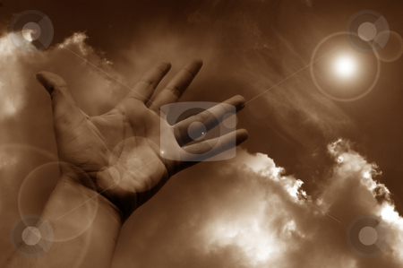 Hand stock photo, Hand in the clouds by Rui Vale de Sousa
