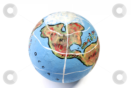 Globe stock photo, Closeup of a globe showing north america isolated on white by Rui Vale de Sousa