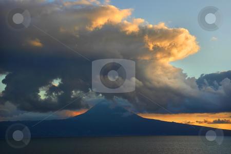 Pico island stock photo, Sunset on pico island by Rui Vale de Sousa