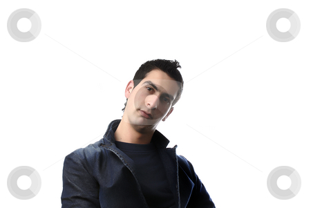 Casual stock photo, Young casual man portrait in a white background by Rui Vale de Sousa