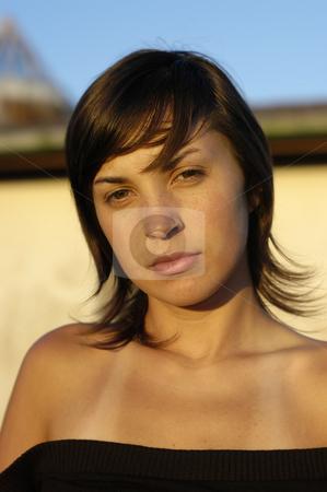 Girl stock photo, Young girl close up portrait posing casual by Rui Vale de Sousa