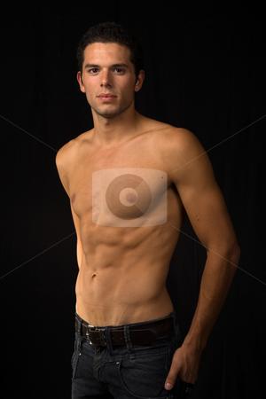 Sensual stock photo, Young sensual man on a black background by Rui Vale de Sousa