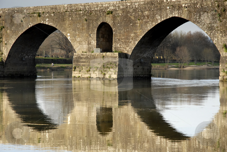 Ancient stock photo, Ancient roman bridge detail in the north of portugal by Rui Vale de Sousa
