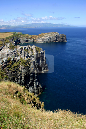 Cliff stock photo, Azores coast by Rui Vale de Sousa