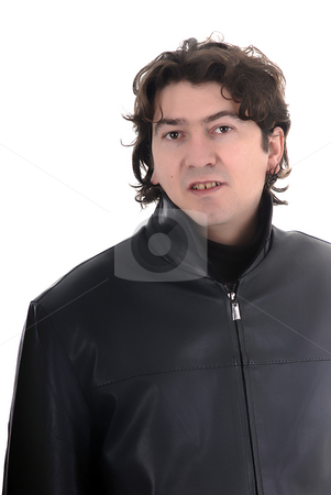 Man stock photo, Young casual man portrait in white background by Rui Vale de Sousa