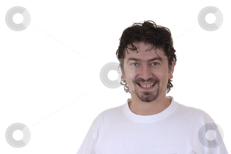 Happy stock photo, Happy young adult in a white background by Rui Vale de Sousa
