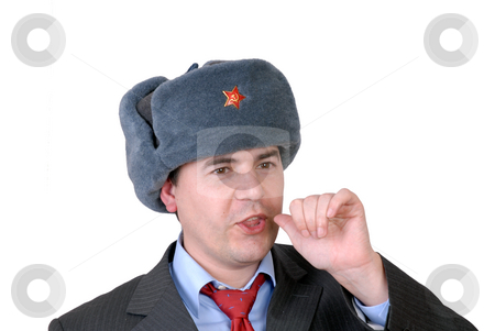 Guy stock photo, Young business man portrait with a russian hat by Rui Vale de Sousa