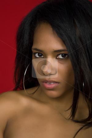 Woman stock photo, Young casual woman close up portrait, studio shot by Rui Vale de Sousa