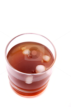 Drink stock photo, Tea with ice or soda over white background by Rui Vale de Sousa