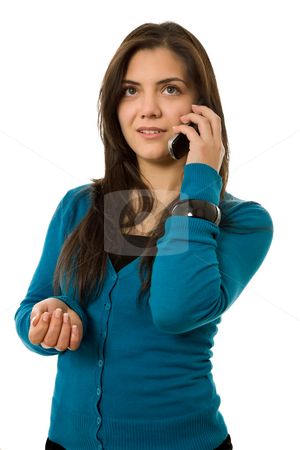Calling stock photo, Young woman speaking on the mobile phone by Rui Vale de Sousa
