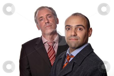 Portrait stock photo, Two young business men portrait on white by Rui Vale de Sousa