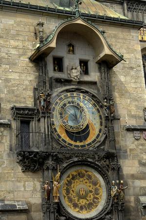 Clock stock photo, Prague famous ancient clock at the old town by Rui Vale de Sousa