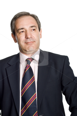 Funny stock photo, Mature business man portrait in white background by Rui Vale de Sousa