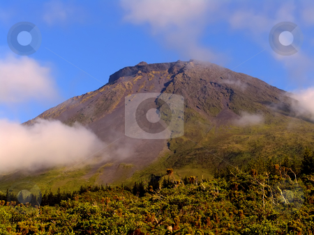 Mountain stock photo, Azores high Pico mountain at Pico island by Rui Vale de Sousa