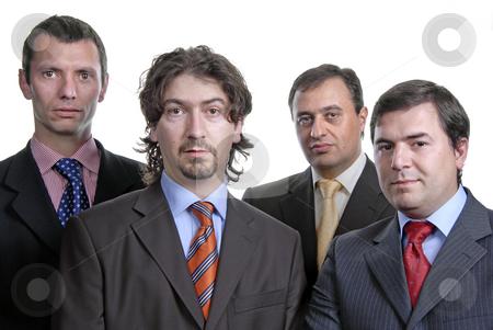 Business team stock photo, Four young business men portrait on white by Rui Vale de Sousa