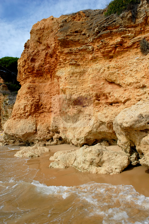 Wave stock photo, Small beach at algarve in the south of portugal by Rui Vale de Sousa