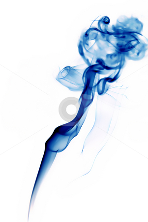 Blue stock photo, Abstract blue smoke in a white background by Rui Vale de Sousa