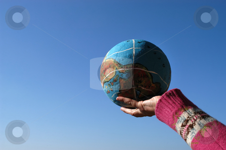 Globe stock photo, Globe on the hand by Rui Vale de Sousa