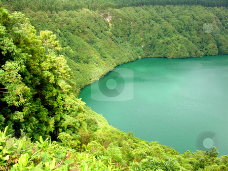 Lake stock photo, Hiden lake of sao goncalo in azores by Rui Vale de Sousa