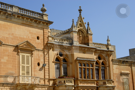 Ancient stock photo, Gothic Architecture on medieval palace in island of Malta by Rui Vale de Sousa