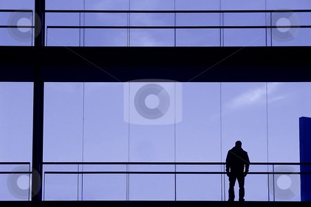 Silhouette stock photo, Man in the building by Rui Vale de Sousa
