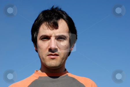 Man stock photo, Casual man with the sky as background by Rui Vale de Sousa