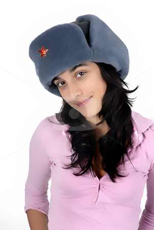 Russian stock photo, Young girl with a russian hat portrait by Rui Vale de Sousa