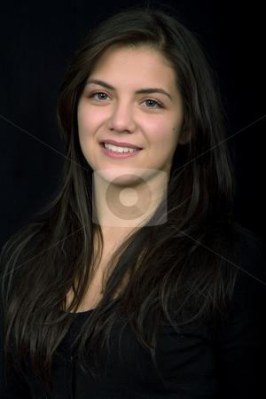 Woman stock photo, Young beautiful woman portrait, studio picture by Rui Vale de Sousa
