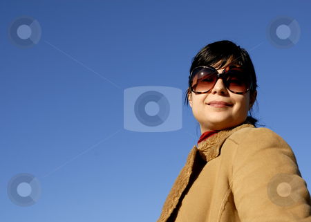 Woman stock photo, Young casual girl portrait in the sun light by Rui Vale de Sousa