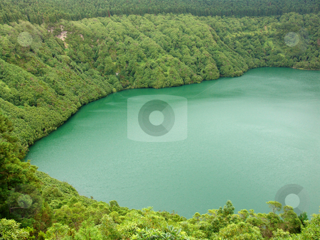 Lake stock photo, Azores lake in the mountain by Rui Vale de Sousa